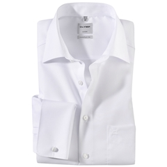 Olymp Comfort Fit Double Cuff Shirt - White - 0265 65 00