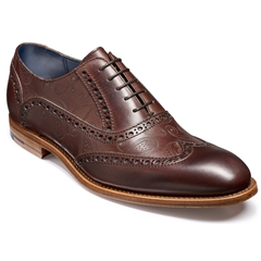 Barker Shoes Style: Grant - Walnut Calf / Paisley Laser