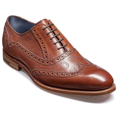 Barker Shoes Style: Grant - Rosewood Calf / Paisley Laser