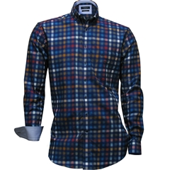 Autumn 2017 Giordano Shirt - Multi Squares - Regular Fit