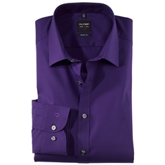 Olymp Level Five Body Fit Shirt - Violet - 6090 64 83