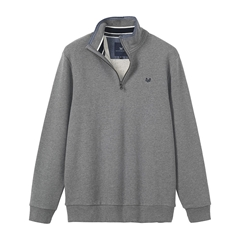 Autumn 2017 Mens Crew Clothing Classic Half Zip Sweat - Grey Marl