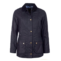 Autumn 2017 Women's Barbour X Liberty Abbey Wax Jacket - Navy