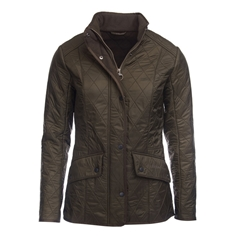 Autumn 2017 Women's Barbour Cavalry Polarquilt Jacket - Olive