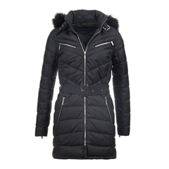 Autumn 2017 Women's Barbour International Mondello Quilted Parka Jacket - Black
