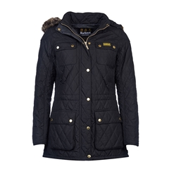 Autumn 2017 Women's Barbour International Enduro Quilted Jacket - Black