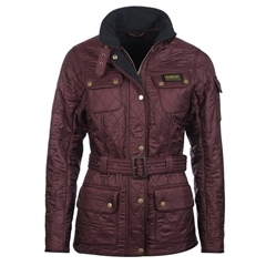 Autumn 2017 Women's Barbour International Polarquilt Jacket - Burgundy