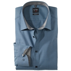 Olymp Level Five Body Fit Shirt - marine - 0562 64 18