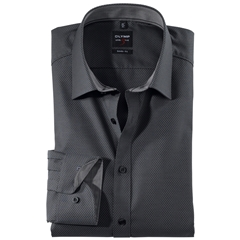 Olymp Level Five Body Fit Shirt - Black - 0562 64 68