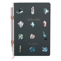 Ted Baker A5 Notebook with Pencil - Linear Gem