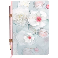 Ted Baker A5 Notebook with Pencil - Chelsea Border