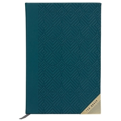 Ted Baker Teal Geometric A5 Notebook