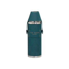 Ted Baker Teal Hip Flask & Shot Cups