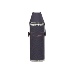 Ted Baker Cadet Blue Hip Flask & Shot Cups