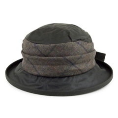 Autumn 2017 Women's Barbour Wax with Tweed brimmed hat -Olive