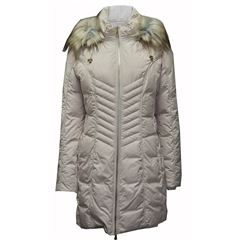 Betty Barclay Quilted Coat With Hood - Almond
