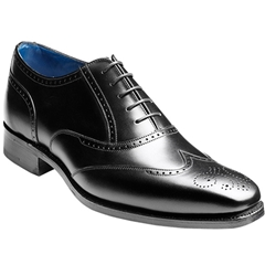 Barker Shoes Style: Johnny - Black Calf - Size 9, 10 & 10.5