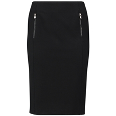 Taifun Stretchy Skirt that extends below the knee - Black