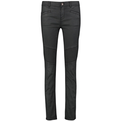 Taifun Jeans with sporty topstitching, Skinny -Black