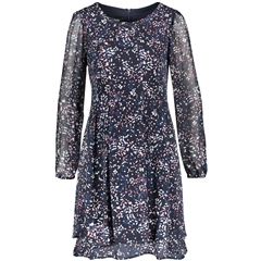 Taifun Delicate Crpe Dress - Navy