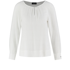 Taifun Blouse with a fine texture - Offwhite