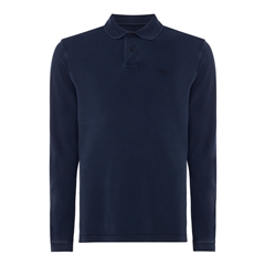 Autumn 2017 Barbour Long Sleeve Washed Polo- Navy