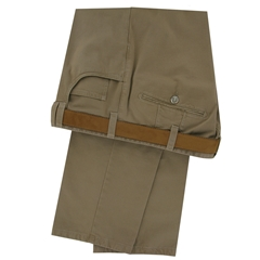 Meyer Trousers Cotton Sateen Chino - Sand -  Jeans Front Style Malaga