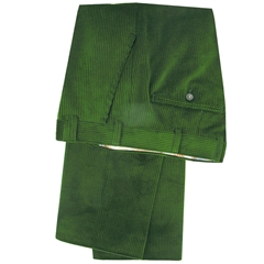 Meyer Trousers Luxury Cotton Corduroy - Apple Green - Style Madird