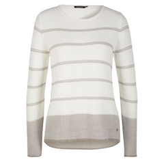 Olsen Striped Jumper - Winter White