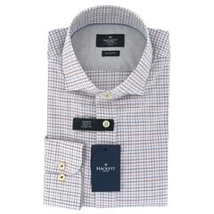 New For Autumn Hackett Tattershall Shirt Blue/Wine