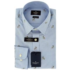 New For Autumn Hackett Stag Shirt Blue Gingham