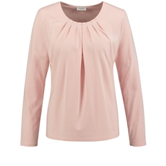 New 2018 Long Sleave top with pleated trim - rose