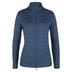 Olsen Cardigan with Zipper - Blue Denim Melange