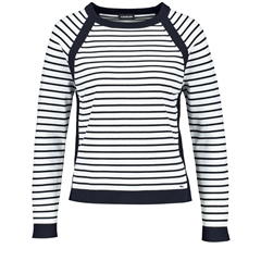 New 2018 Taifun Striped Jumper with Raglan Sleeves - Off-White Ringel
