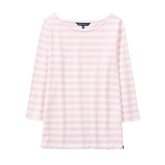 New 2018 Crew Women's Ultimate Breton Tee - Pure pink/White Stripe
