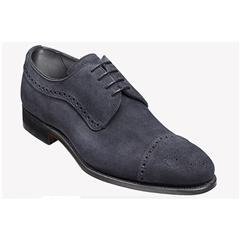 New 2018 Barker Shoes Style: Larne - Navy Suede
