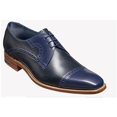 New 2018 Barker Shoes Style: Apollo - Navy Calf/ Navy Grain