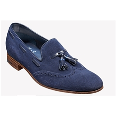 New 2018 Barker Shoes Style: Ray - Navy Suede/Navy Calf