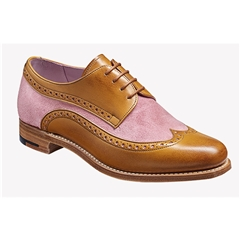 New 2018 Women's Barker Shoes Style: Cassie - Cedar Calf/ Pink Suede