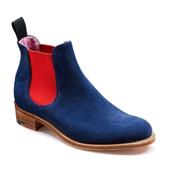 New 2018 Women's Barker Shoes Style: Violet - Navy Suede/Red Elastic