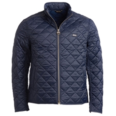 New 2018 Barbour Men's International Gear Quilted Jacket - Navy