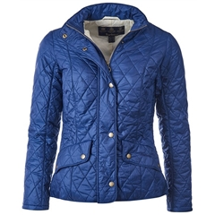 New 2018 Barbour Women's Flyweight Cavalry Quilted Jacket - Indigo