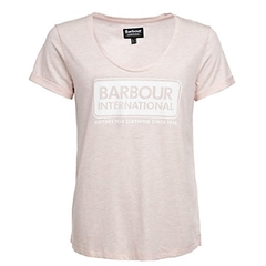 New 2018 Barbour Women's International Track Tee - Pale Pink