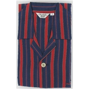Navy & Red Block Stripe Cotton Pyjamas