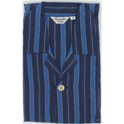 Navy & Royal Blue Block Stripe Cotton Pyjamas