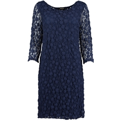 New 2018 Pomodoro Crinkle Lace Dress - Navy