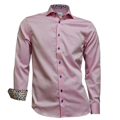 New 2018 Oscar Shirt - Pink with contrast trim and buttons
