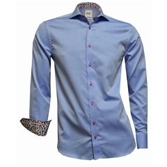 New 2018 Oscar Shirt - Blue with contrast trim and buttons
