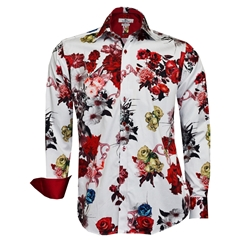 New 2018 Claudio Lugli Red Roses Shirt - Red