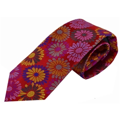Van Buck Limited Edition - Red Floral Tie